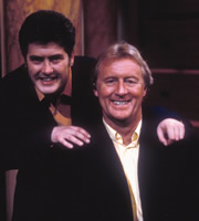 Room 101. Image shows from L to R: Nick Hancock, Chris Tarrant. Copyright: Hat Trick Productions / BBC.