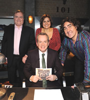 Room 101. Image shows from L to R: John Prescott, Frank Skinner, Rebecca Front, Micky Flanagan. Copyright: Hat Trick Productions.
