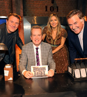 Room 101. Image shows from L to R: Phil Tufnell, Frank Skinner, Victoria Coren Mitchell, Terry Wogan. Copyright: Hat Trick Productions.
