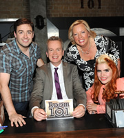 Room 101. Image shows from L to R: Jason Manford, Frank Skinner, Deborah Meaden, Paloma Faith. Copyright: Hat Trick Productions.