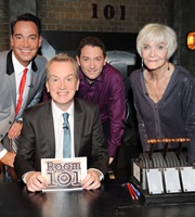 Room 101. Image shows from L to R: Craig Revel Horwood, Frank Skinner, Jon Richardson, Sheila Hancock. Copyright: Hat Trick Productions.