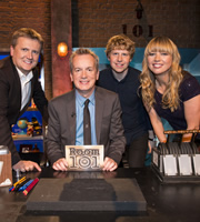 Room 101. Image shows from L to R: Aled Jones, Frank Skinner, Josh Widdicombe, Sara Cox. Copyright: Hat Trick Productions.