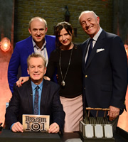 Room 101. Image shows from L to R: Frank Skinner, Tim Vine, Ronni Ancona, Len Goodman. Image credit: Hat Trick Productions.
