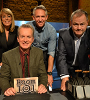Room 101. Image shows from L to R: Fay Ripley, Frank Skinner, Gary Lineker, Jack Dee. Copyright: Hat Trick Productions.