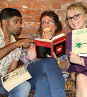The Show What You Wrote. Image shows from L to R: Darren Kuppan, Helen Moon, Fiona Clarke. Copyright: BBC.