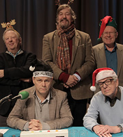 I'm Sorry I Haven't A Clue. Image shows from L to R: Tim Brooke-Taylor, Jack Dee, Stephen Fry, Graeme Garden, Barry Cryer. Image credit: British Broadcasting Corporation.