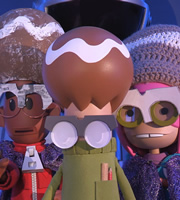 Strange Hill High. Image shows from L to R: Mitchell Tanner, Templeton, Becky Butters. Copyright: BBC / Factory Transmedia.