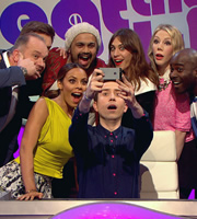 Sweat The Small Stuff. Image shows from L to R: Nev Wilshire, Rochelle Humes, Unknown, Nick Grimshaw, Alexa Chung, Katherine Ryan, Melvin Odoom. Copyright: Talkback.