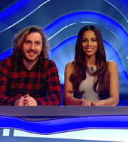 Sweat The Small Stuff. Image shows from L to R: Seann Walsh, Rochelle Humes. Copyright: Talkback.