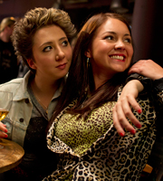 Switch. Image shows from L to R: Lucy (Rosamund Hanson), Stella (Lacey Turner). Copyright: Touchpaper Television.
