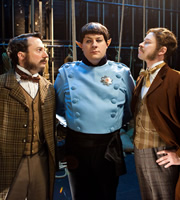That Mitchell And Webb Look. Image shows from L to R: David Mitchell, James Bachman, Robert Webb. Image credit: British Broadcasting Corporation.