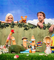 That Puppet Game Show. Image shows from L to R: Katherine Jenkins, Jonathan Ross. Copyright: BBC.