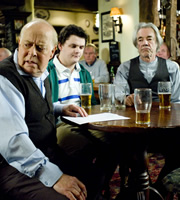 The Old Guys. Image shows from L to R: Roy (Clive Swift), Roland (Harry Culverhouse), Tom (Roger Lloyd-Pack). Copyright: BBC.