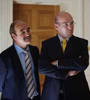 The Thick Of It. Image shows from L to R: Steve Fleming (David Haig), Julius Nicholson (Alex Macqueen). Copyright: BBC.