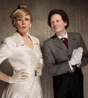 This Is Jinsy. Image shows from L to R: Roopina Crale (Catherine Tate), Maven (Justin Chubb). Copyright: The Welded Tandem Picture Company.