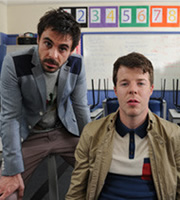 Threesome. Image shows from L to R: Richie (Emun Elliott), Mitch (Stephen Wight). Copyright: Big Talk Productions.
