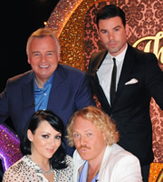 Through The Keyhole. Image shows from L to R: Eamonn Holmes, Martine McCutcheon, Dave Berry, Leigh Francis. Copyright: Talkback.