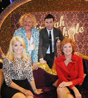 Through The Keyhole. Image shows from L to R: Holly Willoughby, Keith Lemon, Dave Berry, Cilla Black. Image credit: Talkback.