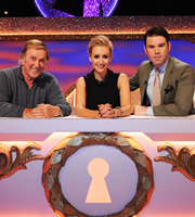Through The Keyhole. Image shows from L to R: Sir Terry Wogan, Catherine Tyldesley, Dave Berry. Image credit: Talkback.
