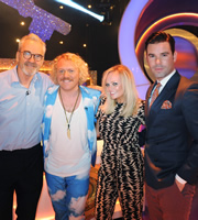 Through The Keyhole. Image shows from L to R: Larry Lamb, Keith Lemon, Emma Bunton, Dave Berry. Image credit: Talkback.