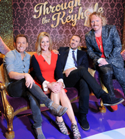Through The Keyhole. Image shows from L to R: Joe Swash, Gabby Logan, Paddy McGuinness, Leigh Francis. Copyright: Talkback.