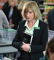 Trollied. Julie (Jane Horrocks). Copyright: Roughcut Television.