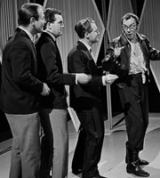 Two Of A Kind. Image shows from L to R: Sid (Sid Green), Dick (Dick Hills), Ernie Wise, Eric Morecambe. Copyright: Associated Television.