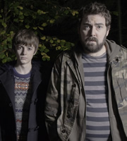 Uncle. Image shows from L to R: Errol (Elliot Speller-Gillott), Andy (Nick Helm). Image credit: Baby Cow Productions.