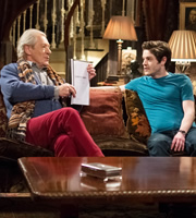 Vicious. Image shows from L to R: Freddie (Ian McKellen), Ash (Iwan Rheon). Copyright: Brown Eyed Boy / Kudos Productions.