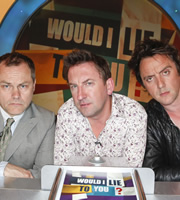 Would I Lie To You?. Image shows from L to R: Jack Dee, Lee Mack, Peter Serafinowicz. Copyright: Zeppotron.