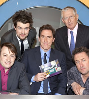 Would I Lie To You?. Image shows from L to R: David Mitchell, Jack Whitehall, Rob Brydon, Nick Hewer, Lee Mack. Copyright: Zeppotron.