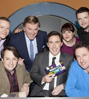 Would I Lie To You?. Image shows from L to R: Robert Webb, David Mitchell, Terry Wogan, Rob Brydon, Katy Wix, Lee Mack, Kevin Bridges. Copyright: Zeppotron.