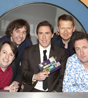 Would I Lie To You?. Image shows from L to R: David Mitchell, David O'Doherty, Rob Brydon, Bill Turnbull, Lee Mack. Copyright: Zeppotron.