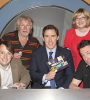 Would I Lie To You?. Image shows from L to R: David Mitchell, Bill Oddie, Rob Brydon, Sarah Millican, Lee Mack. Copyright: Zeppotron.