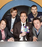 Would I Lie To You?. Image shows from L to R: David Mitchell, Mackenzie Crook, Rob Brydon, Rhod Gilbert, Lee Mack. Copyright: Zeppotron.
