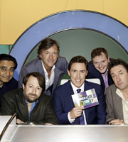 Would I Lie To You?. Image shows from L to R: Sanjeev Bhaskar, David Mitchell, Richard Madeley, Rob Brydon, Miles Jupp, Lee Mack. Copyright: Zeppotron.