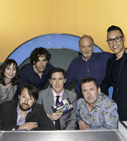 Would I Lie To You?. Image shows from L to R: Isy Suttie, David Mitchell, Stephen Mangan, Rob Brydon, Lee Mack, Charles Dance, Gok Wan. Copyright: Zeppotron.