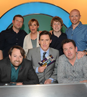 Would I Lie To You?. Image shows from L to R: Dermot O'Leary, David Mitchell, Mel Giedroyc, Rob Brydon, Josh Widdicombe, Lee Mack, Matt Dawson. Copyright: Zeppotron.
