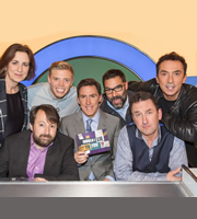 Would I Lie To You?. Image shows from L to R: Kirsty Wark, David Mitchell, Rob Beckett, Rob Brydon, Adam Buxton, Lee Mack, Bruno Tonioli. Copyright: Zeppotron.