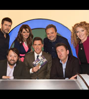 Would I Lie To You?. Image shows from L to R: Rhod Gilbert, David Mitchell, Carol Vorderman, Rob Brydon, Hal Cruttenden, Lee Mack, Kelly Hoppen. Copyright: Zeppotron.