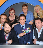 Would I Lie To You?. Image shows from L to R: Paul Foot, David Mitchell, Jo Brand, Rob Brydon, Ray Mears, Roisin Conaty, Lee Mack. Copyright: Zeppotron.