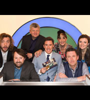 Would I Lie To You?. Image shows from L to R: Seann Walsh, David Mitchell, Adrian Chiles, Rob Brydon, June Brown, Lee Mack, Aisling Bea. Copyright: Zeppotron.
