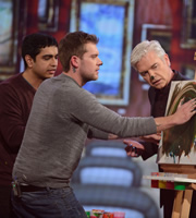 You're Back In The Room. Image shows from L to R: Unknown, Unknown, Phillip Schofield. Image credit: Tuesday's Child.