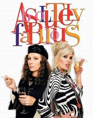 Absolutely Fabulous. Image shows from L to R: Edina (Jennifer Saunders), Patsy (Joanna Lumley). Image credit: Saunders And French Productions.