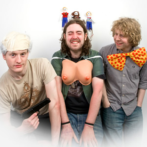 Edinburgh Fringe 2009 - Acaster, Helm and Widdicombe. Image shows from L to R: James Acaster, Nick Helm, Josh Widdicombe.