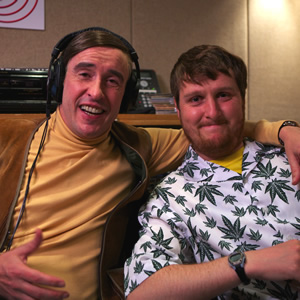 Alan Partridge's Mid Morning Matters. Image shows from L to R: Alan Partridge (Steve Coogan), Sidekick Simon (Tim Key). Image credit: Baby Cow Productions.