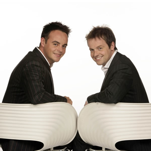 Image shows from L to R: Ant McPartlin, Declan Donnelly.