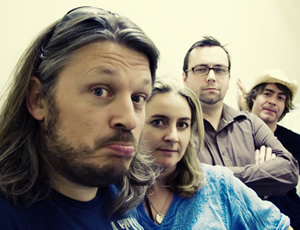 As It Occurs To Me: Richard Herring, Richard Herring, Emma Kennedy, Dan Tetsell, Christian Reilly. Image shows from L to R: Richard Herring, Emma Kennedy, Dan Tetsell, Christian Reilly. Image credit: www.MatRicardoPhotography.com.