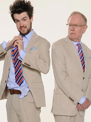 Backchat. Image shows from L to R: Jack Whitehall, Michael Whitehall.