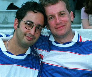 Image shows from L to R: David Baddiel, Frank Skinner.